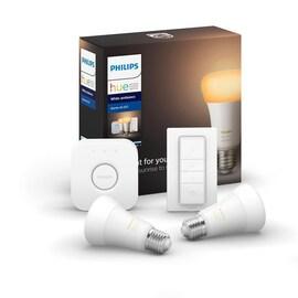Philips Hue Zestaw startowy 2xE27 A60 9W 2700-6500K + Mostek + Regulator przyciemnienia Hue Bluetooth i Zigbee