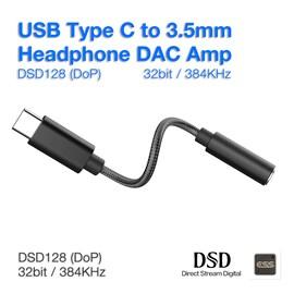 Portable Headphone Amplifier 600Ω HPA USB Type C DAC Codecs ESS9280 DSD Hard Decode HiFi Amp