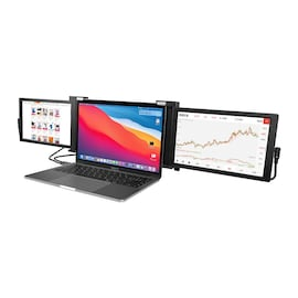 Portable Triple Screen Laptop Workstation External Monitor for Laptop USB C Monitor 13.3 inch from 14 inch to 16 Size