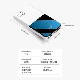 Poverbank Mobile Phone External Battery White 1000-2999 mAh