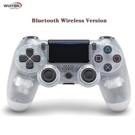 PS4 Controller Bluetooth Gamepad For DualShock 4 Wireless Controller FOR SONY PlayStation Pro/Slim/PC/Android/IOS/iPad  White