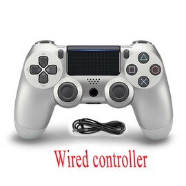 PS4 Wired Controller Dual Shock 4 Gamepad For Sony Playstation 4 Silver