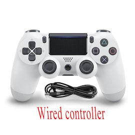 PS4 Wired Controller Dual Shock 4 Gamepad White For Sony Playstation 4