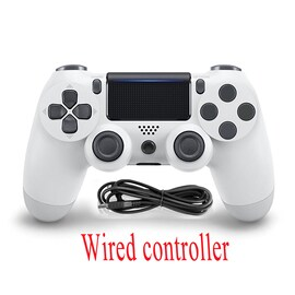 PS4 Wired Controller Dual Shock 4 Gamepad White For Sony Playstation 4 White