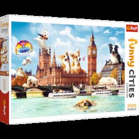 Puzzle - Psy w Londynie - 1000 el. Multi-Colored
