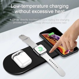 Qi Wireless Charger Stand Black