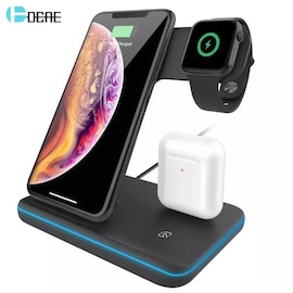 Qi Wireless Charger Stand Type B  Black