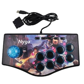 Retro Arcade Joystick For Ps2 / Ps3 / Pc / Android Smart Tv Built-In Vibrator Eight Direction - Type2