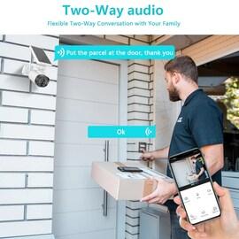 Sailvde 1080P Wifi IP Camerax Outdoor Solar CCTV Camera 1080P 2MP Home Security Surveillance H.265 P2P Security Camerax Black