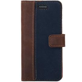 Samsung Galaxy J3 (2016)- Surazo® Phone Case Genuine Leather- Nubuck Nut and Navy