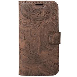 Samsung Galaxy J6 Plus- Surazo® Phone Case Genuine Leather- Ornament Brown