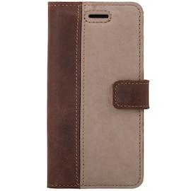 Samsung Galaxy J7 (2017)  [Pionowy aparat]- Surazo® Phone Case Genuine Leather- Nubuck Nut and Beige