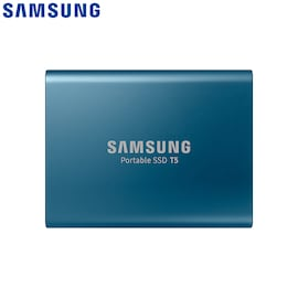 Samsung T5 Portable SSD Hardware with USB 3.1 Encryption - Blue, 250GB