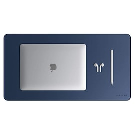 Satechi - Eco-Leather Deskmate - Protective pad on the desk - Blue