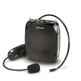 SHIDU 10 Watts UHF Wireless Voice Amplifier - Black