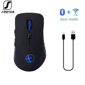 Silent Bluetooth Rechargeable Mouse Black