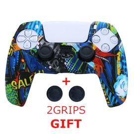Silicone Cover for DualSense PS5 Controller Graffiti 3 Multi-Color