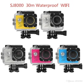 SJ8000 2.0 Inch Sport Action Camera - HD 4K 1080P, Wifi, DV 170 Degree Wide Angle Lens, 30M Waterproof, Remote Blue