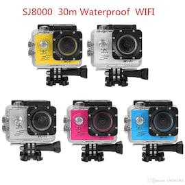 SJ8000 2.0 Inch Sport Action Camera - HD 4K 1080P, Wifi, DV 170 Degree Wide Angle Lens, 30M Waterproof, Remote White
