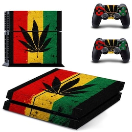 Skin Weed Style 2 for Playstation 4 Normal with Two Controllers Stickers