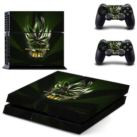 Skin Weed Style 3 for Playstation 4 Normal with Two Controllers Stickers