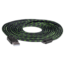 snakebyte USB CHARGE:CABLE™ (3m) Xbox USB - microUSB mesh
