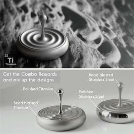Spinning Top Rotating Magnetic Decoration Desktop Droplets Spiner Toys Gifts Hot Sale Movie Totem Print Spinning Top Sp Gray