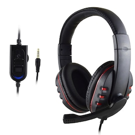 Stereo Gaming Headset For All PS4 Xbox one PC with Microphone and Volume Control Red