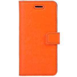 Surazo® Back Case Genuine Leather for phone LG Velvet - Wallet case Premium - Neon Orange