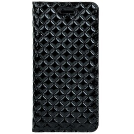 Surazo® Back Case Genuine Leather for phone Nokia 7.2 - SM RFID - Quilted Diamonds - Gloss Black