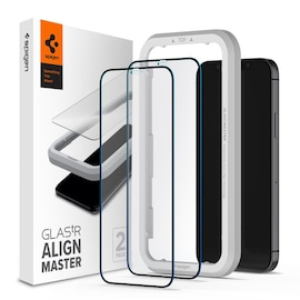 Szkło hartowane Spigen GLAS.tR AlignMaster Apple iPhone 12 mini Black [2 PACK]