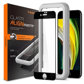 Szkło hartowane Spigen GLAS.tR AlignMaster Apple iPhone SE 2020/8/7 Black