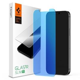 Szkło hartowane Spigen GLAS.tR AntiBlue Apple iPhone 12/12 Pro