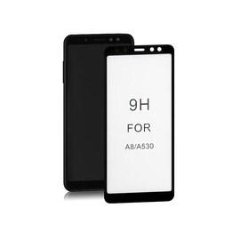 Szkło Ochronne Do Samsung Galaxy A8 2018   6D   Pełne   Czarne