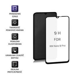 Szkło Ochronne Hartowane Premium Qoltec Do Xiaomi Redmi Note 8 Pro | Czarne