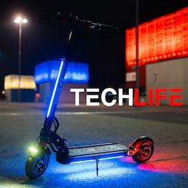 Techlife X6 Electric Scooter Black/Red Not Specified
