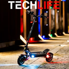 Techlife X7S Electric Scooter Black/Red Not Specified