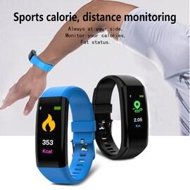 Tracker Fitness Bracelet Sports Wristband Band  Blue CHINA