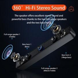 TV Soundbar USB Computer Speakers Sound Bar Bluetooth Speaker for PC Laptop Desktop Subwoofer Caixa De Som Barre De Sono