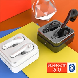 TWS T88 Bluetooth 5.0 Earphones True Wireless Earbuds Noise Canceling Earphones HIFI Earpieces with Mic White N/A