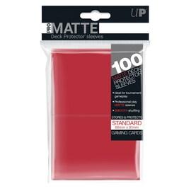 Ultra-Pro Koszulki Pro-Matte Standard 66x91 - Czerwone (100szt)