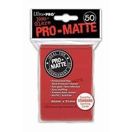 Ultra-Pro Koszulki Pro-Matte Standard 66x91 - Czerwone (50szt)