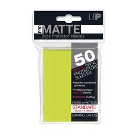 Ultra-Pro Koszulki Pro-Matte Standard 66x91 - Jasny Żółty (50szt)