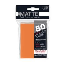 Ultra-Pro Koszulki Pro-Matte Standard 66x91 - Pomarańczowy (50szt)