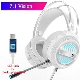 USB Wired Earphone Headset White