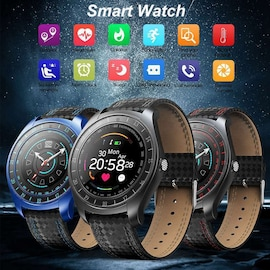 V10 Waterproof Sport Smart Watch - Blood Pressure Heart Rate Monitor for iOS Android Black