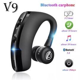 V9 earphones Bluetooth headphones Handsfree Black