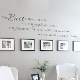 Wall Art Home The Best Things In Life Vinyl Wall Stickers ~ Love Memories Quote | Large Size New