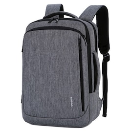 Waterproof BackpackLaptop for Business and Travel with USB Charging Gray