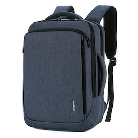 Waterproof BackpackLaptop for Business and Travel with USB Charging Navy Blue